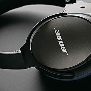 Custom merchandise with Bose headphones