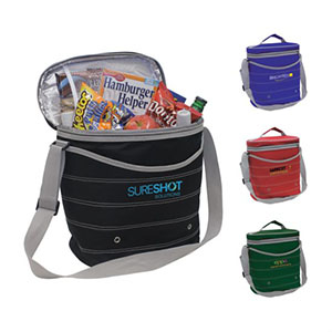 Insulated cooler with strap
