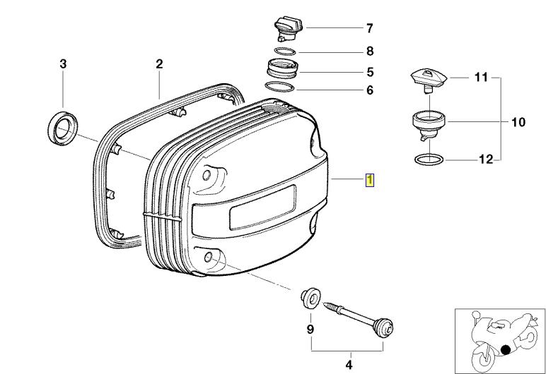 Cache culbuteurs R1100, R850 et R1150 Simple allumage