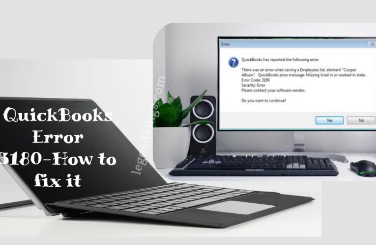 QuickBooks Error 3180 And How to fix it