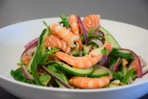 Sashimi and Prawn Salad
