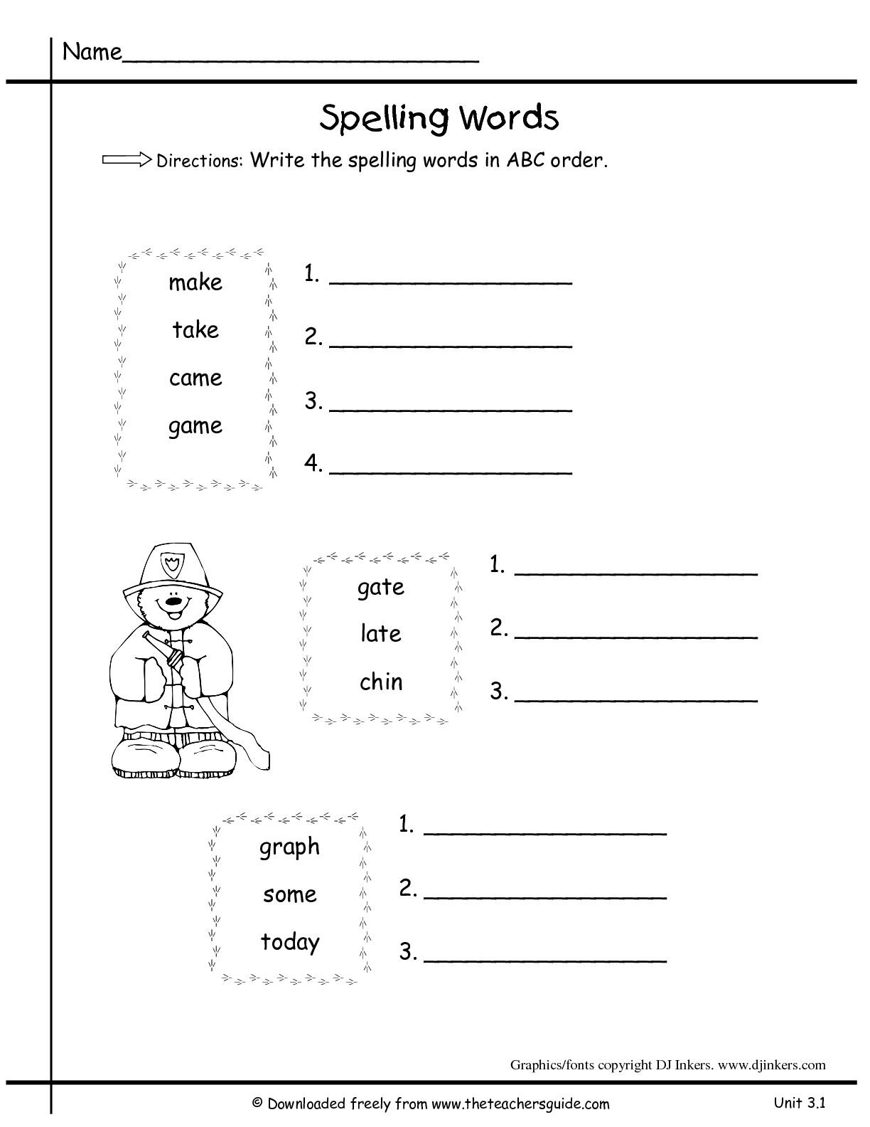 St Patrick S Abc Order Worksheet