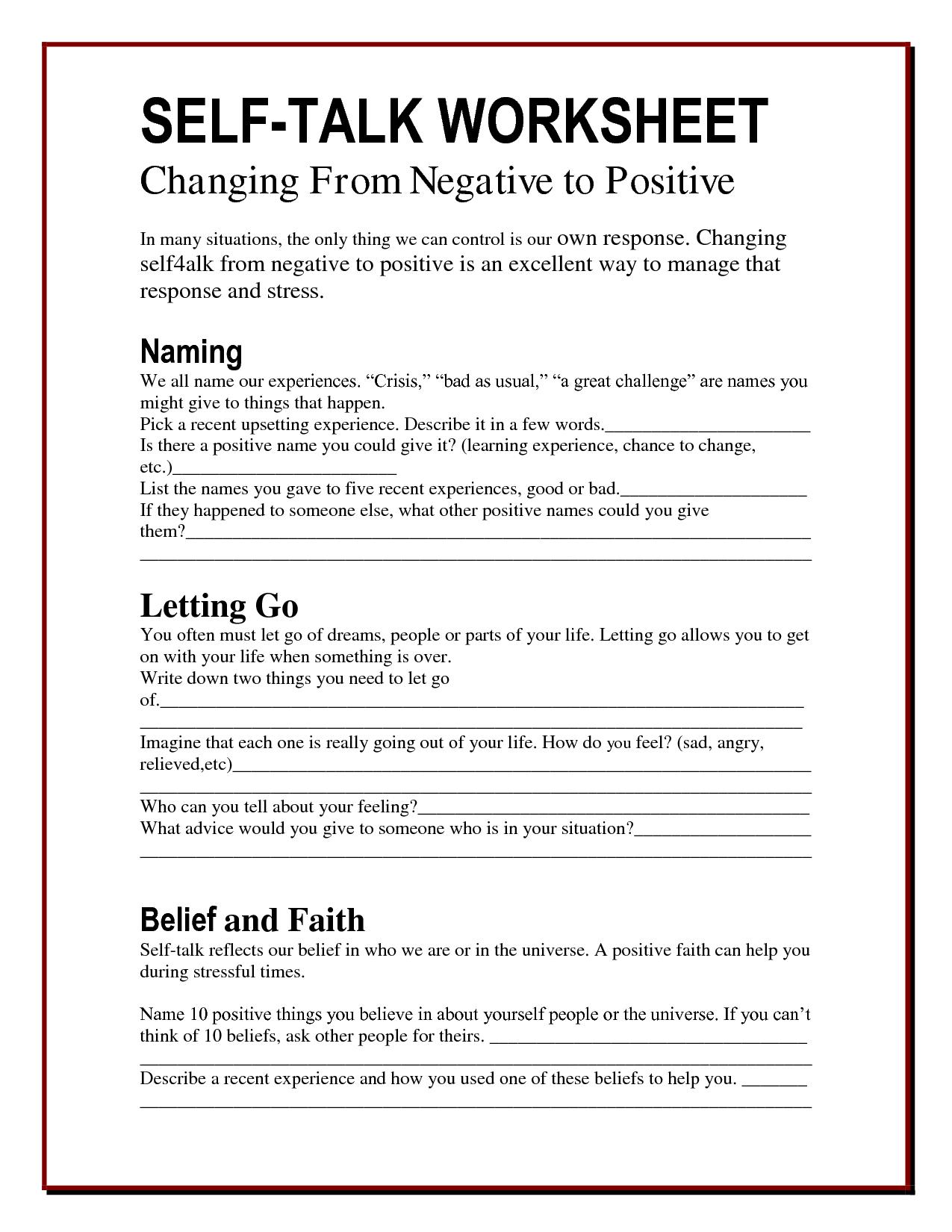 I Messages Worksheet New Ot Mental Health Worksheets