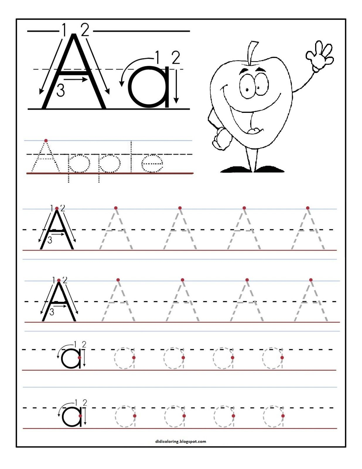 Alphabet Writing Practice Sheet