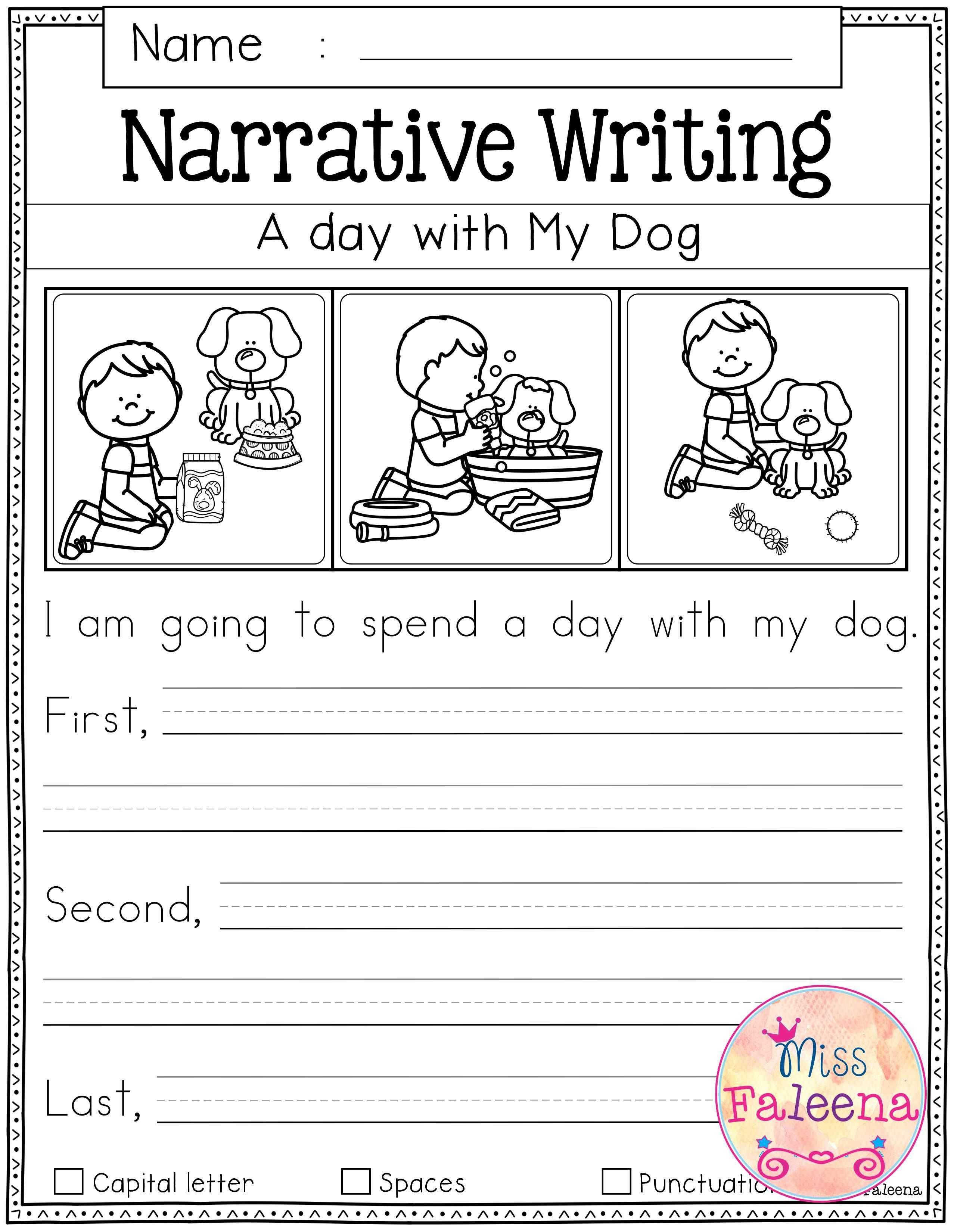 Printable Writing Worksheets For First Grade