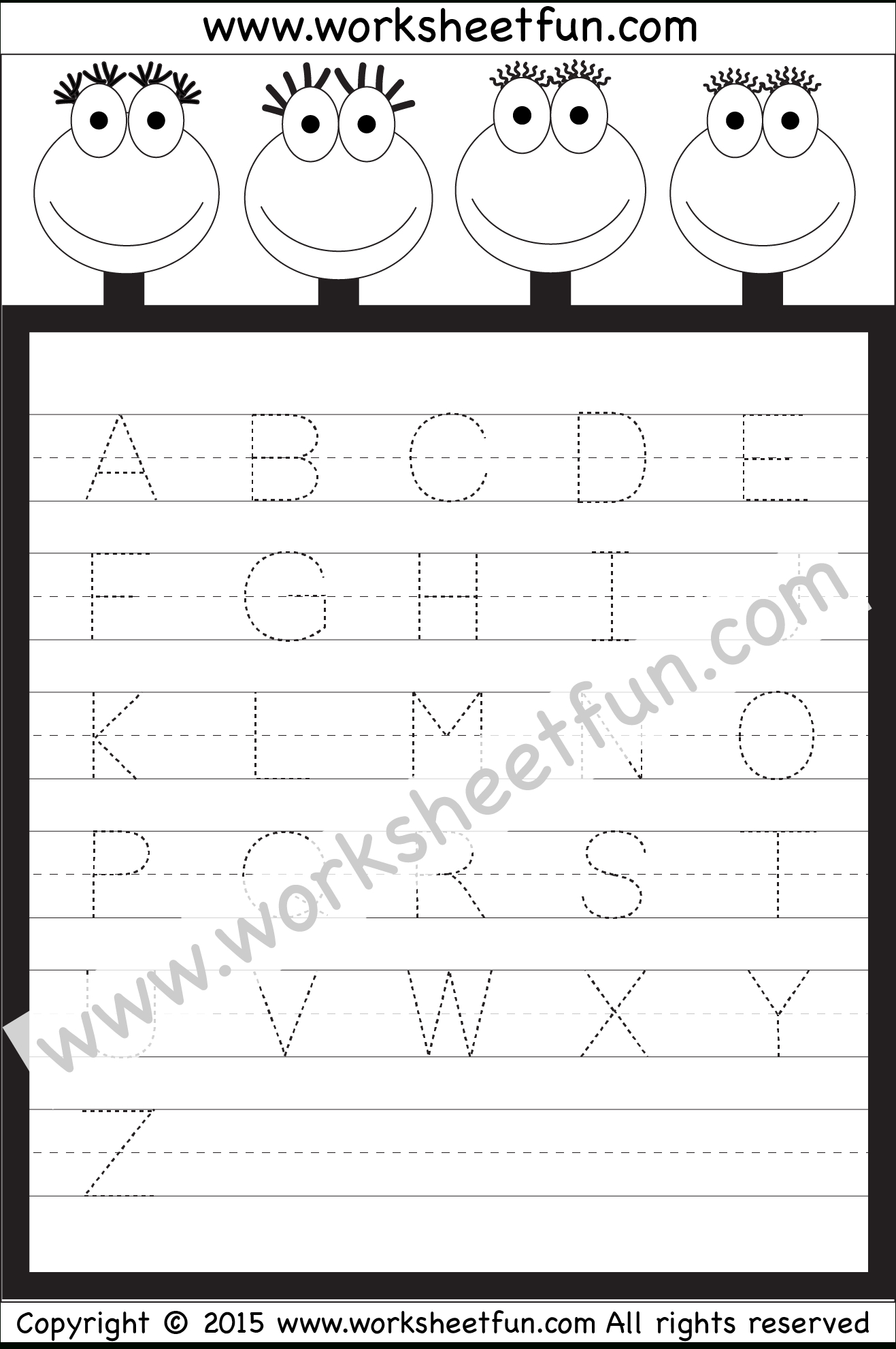 Tracing Uppercase Letters Capital Letters 3