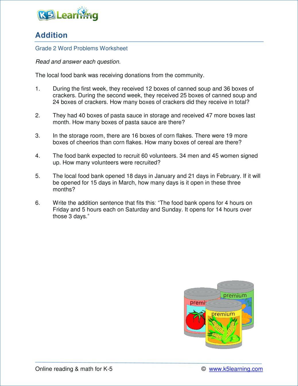 Free Printable Money Word Problems Worksheets