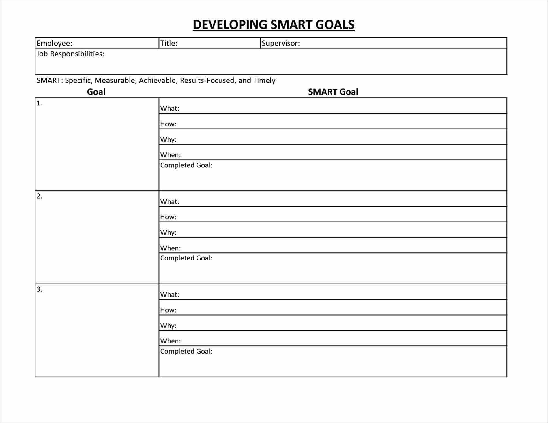 Printable Goal Setting Worksheet For High School Students