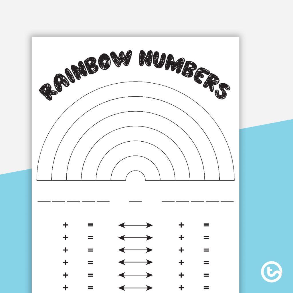 Rainbow Numbers Worksheet