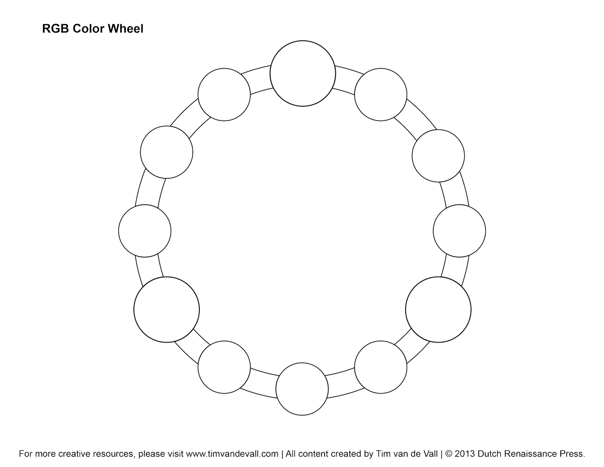 Printable Color Wheel Worksheet