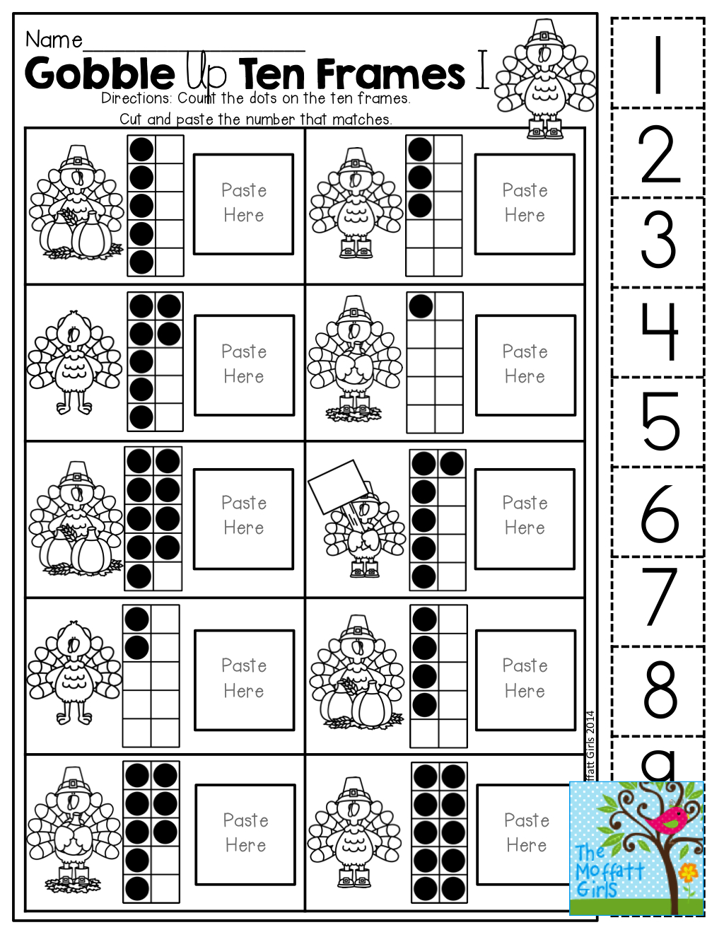 Frame Games Printable Worksheets