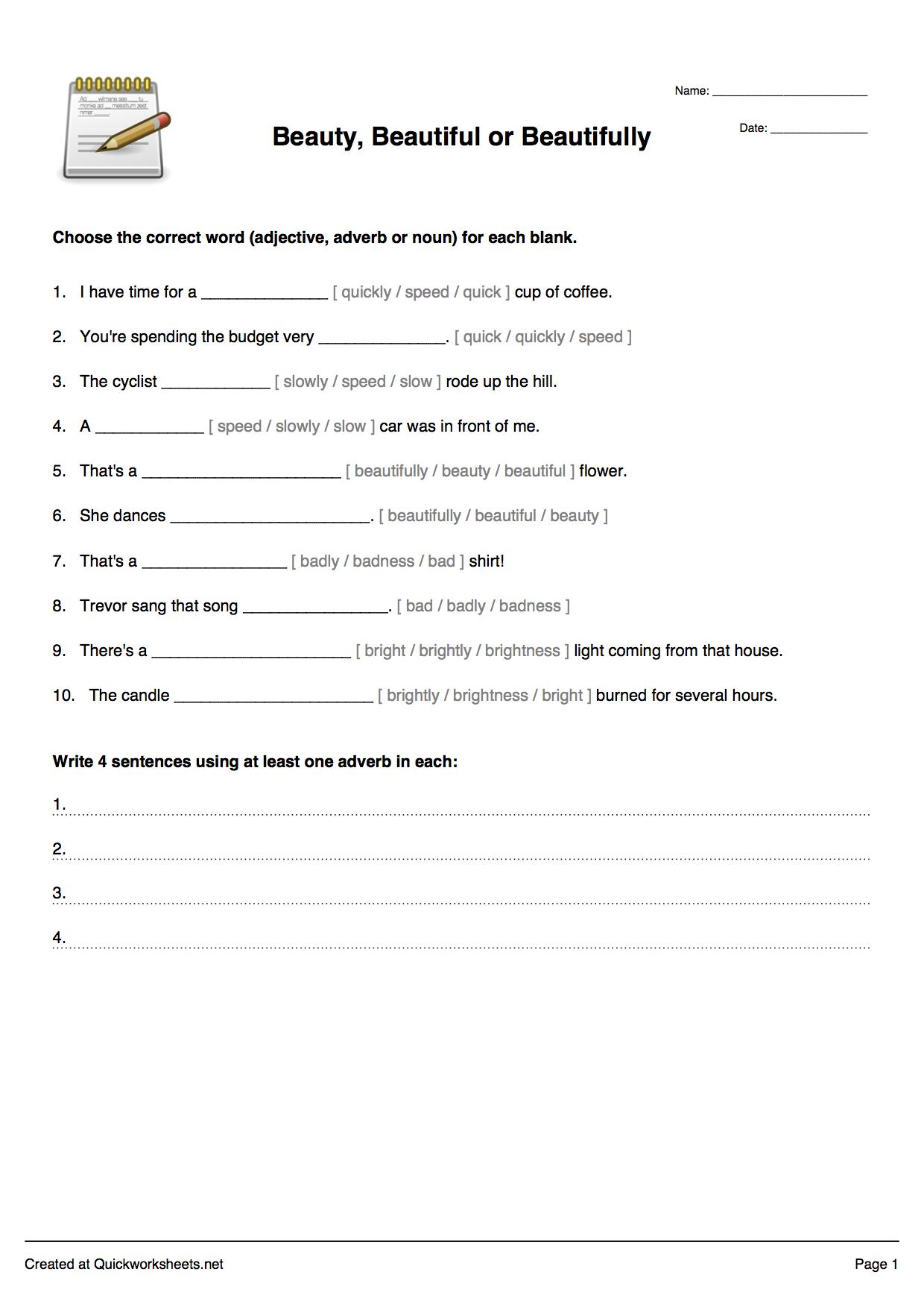 Free Printable Spelling Worksheet Generator