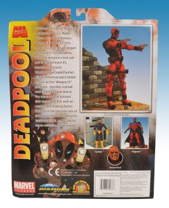 Marvel Select Deadpool Package Back