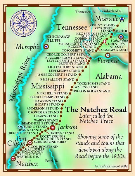 Natchez Trace Parkway Map : natchez, trace, parkway, Natchez, Trace, Traveled, Thousands, Years, Legends, America