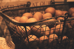 Kitchen Still Life: Eggs in a Basket