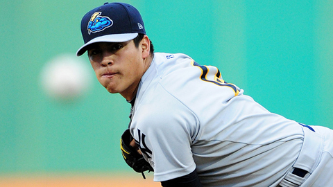 Manny Banuelos made his MLB debut on Thursday night but left early due to cramps. (milb.com)