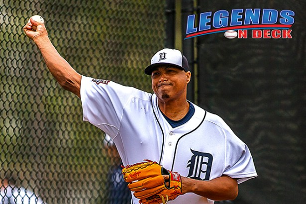 Alfredo Simon took the start for the Tigers against the LA Angels on Tuesday night.  (Gabe Rodriguez)
