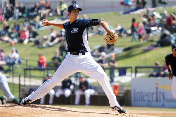 Tigers RHP A.J. Ladwig was named the FSL Pitcher of the Week. (Photo: www.mlive.com)
