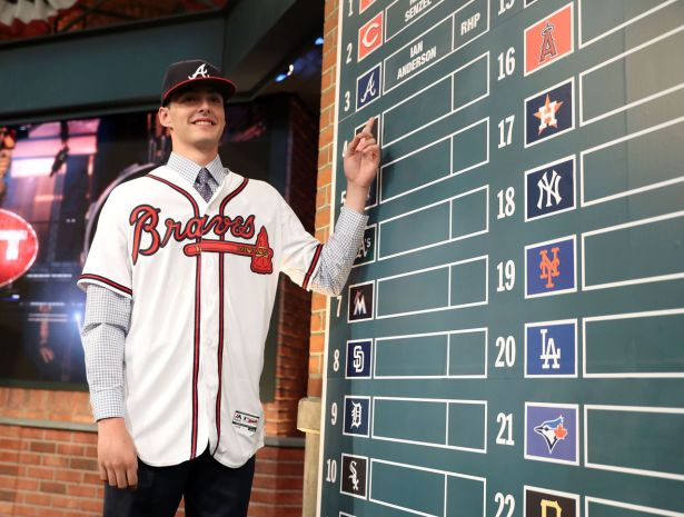 The Atlanta Braves drafted RHP Ian Anderson with the 3rd overall pick in the 2016 Draft. (Photo:Getty Images)