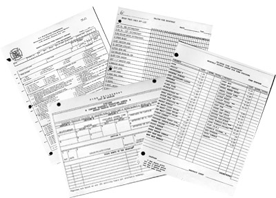 Raleigh Fire Department Data Management Forms, 1988