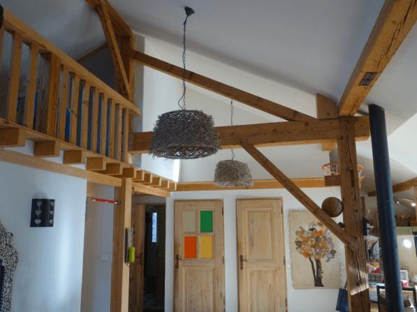 Open beams with warm, cosy interior