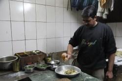 Making paratha filling