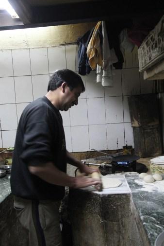 Rolling paratha dough