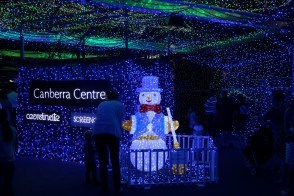 Entrance to Canberra's Christmas light show