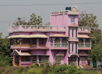 pale pink house