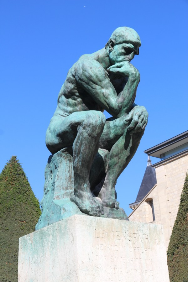 Thinking Works Of Sculptor Auguste Rodin