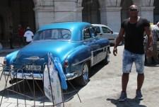 Vintage car, Cuba, blue