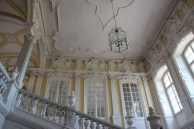 Rundāle Palace, staircase and windows
