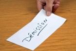 La lettre de démission