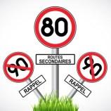 limitation  80 km/h sur les routes secondaires