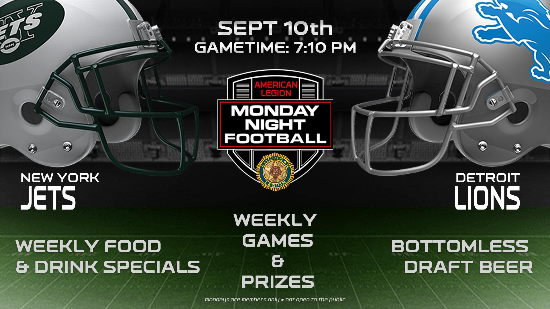 Monday Night Football Sept. 10