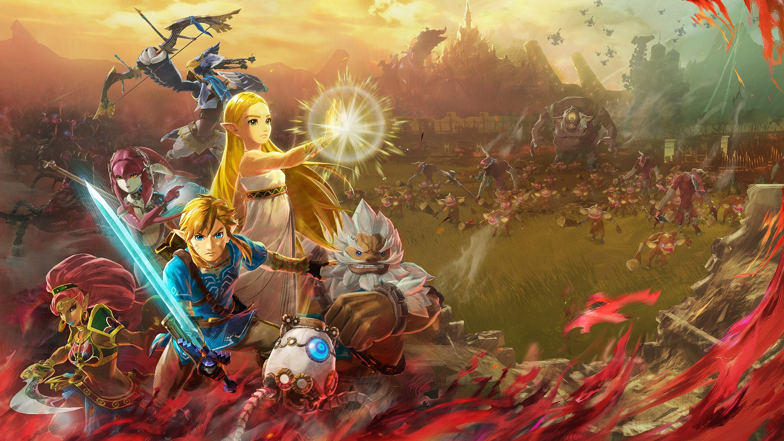 Hyrule Warriors Age of Calamity gameplay destacada