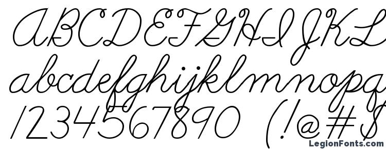 Abc cursive Font Download Free / LegionFonts