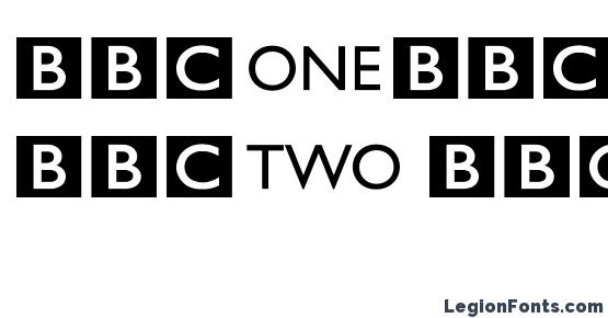 Bbc striped channel logos Font Download Free / LegionFonts
