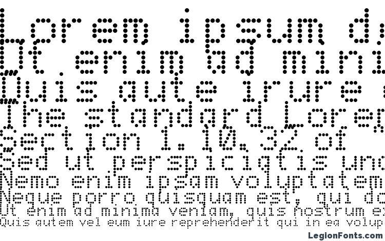 Dot Matrix Font Download Free / LegionFonts