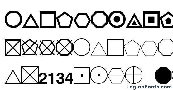 ESRI Geometric Symbols Font Download Free / LegionFonts
