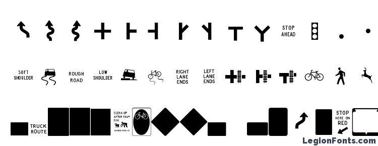 ESRI US MUTCD 2 Font Download Free / LegionFonts