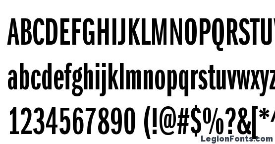 ITC Franklin Gothic LT Demi Extra Compressed Font Download