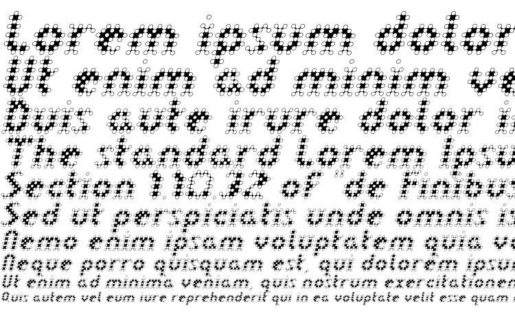 LinotypeDot Oblique Font Download Free / LegionFonts
