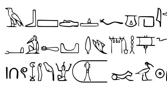 Nahkt Hieroglyphs Font Download Free / LegionFonts