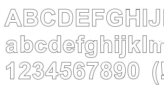 Arial outline font download free