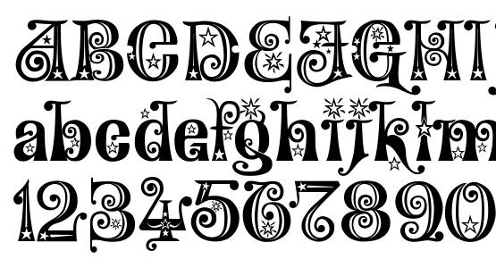 Wonderland Stars Font Download Free / LegionFonts
