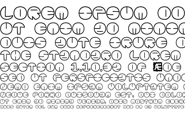 Zurklez Outline BRK Font Download Free / LegionFonts