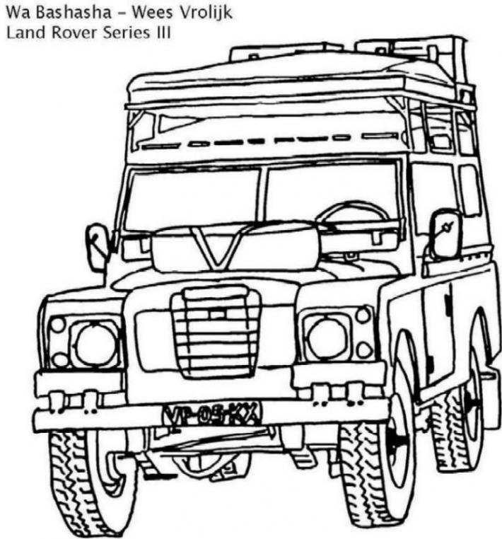 Range Rover Drawing Sketch Coloring Page