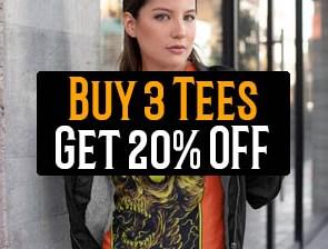 Buy 3 tees get 20% off