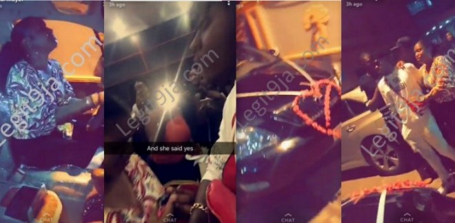 Guy Propose To His Girlfriend With A Latest Lexus Last Night In Warri (PHOTOS)